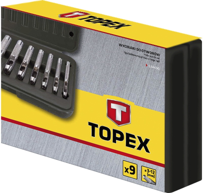 HOLPIJP SET 3-12 MM IN KOFFER TOPEX